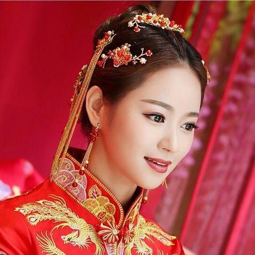 秀禾服头饰凤冠饰品新娘古风结婚中式敬酒服古装发饰