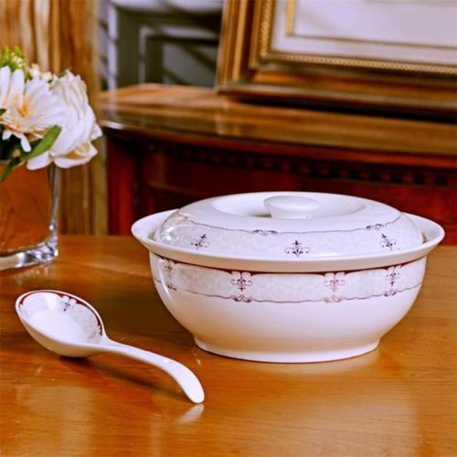 蛋糕学生家用汤碗可爱创意水果盆简约和面盆欧式餐具大汤盆圆形复