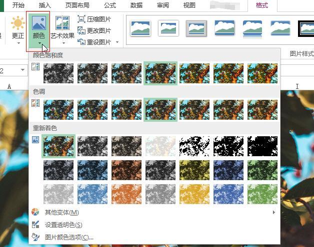 原来excel是一个图片处理软件