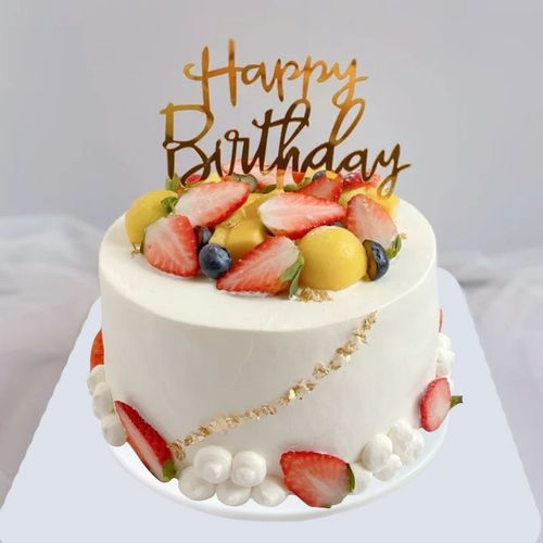生日蛋糕模型仿真2021新款网红欧式水果定制橱窗样品