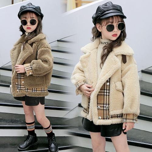 童装女童毛毛衣冬装外套2020新款洋气中大童短款加厚羊羔绒时髦潮