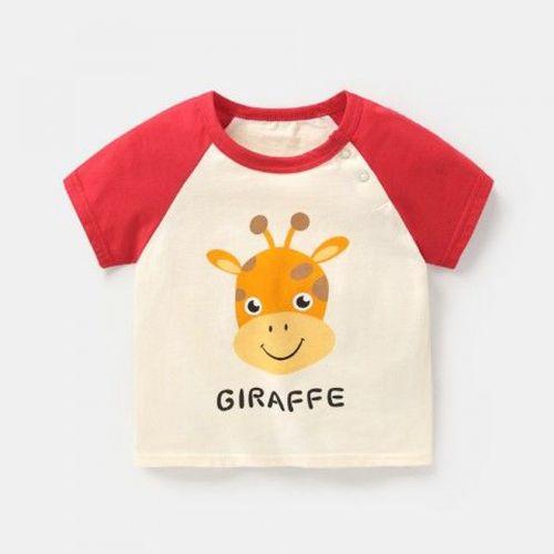 咔咔熊猫婴儿衣服纯棉短袖t恤男童夏装小童儿童宝宝女